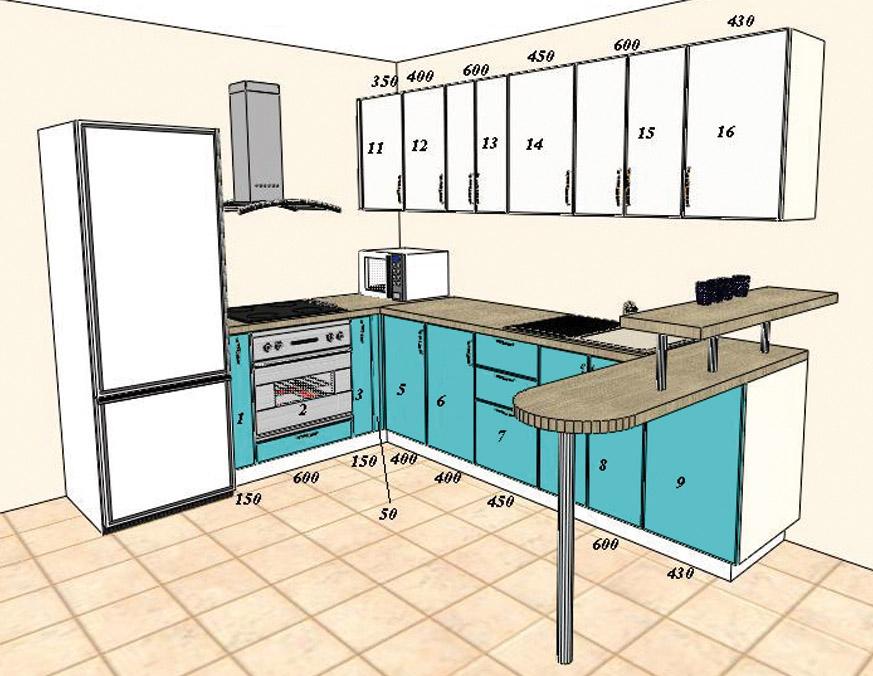 Как самостоятельно составить дизайн проект кухни